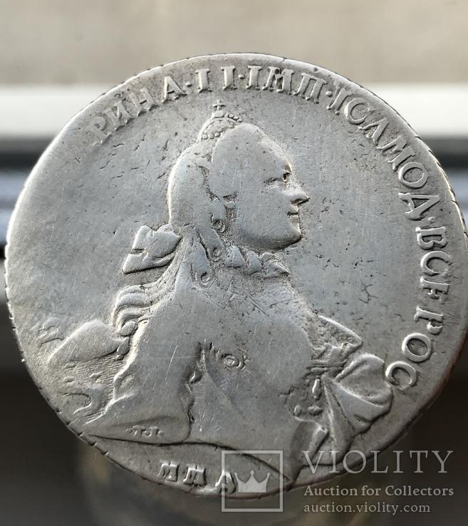 Рубль 1762 года ММД-ДМ (тираж 406 тыс.)