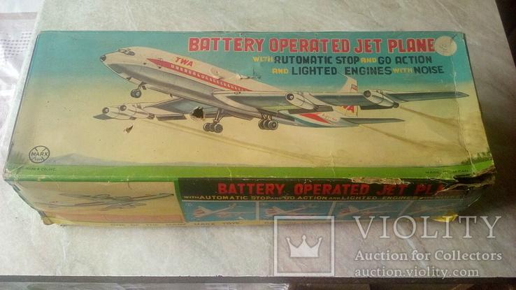 Самолет, 1970г, япония, на батарейках, jet plane twa 4916, фото №2