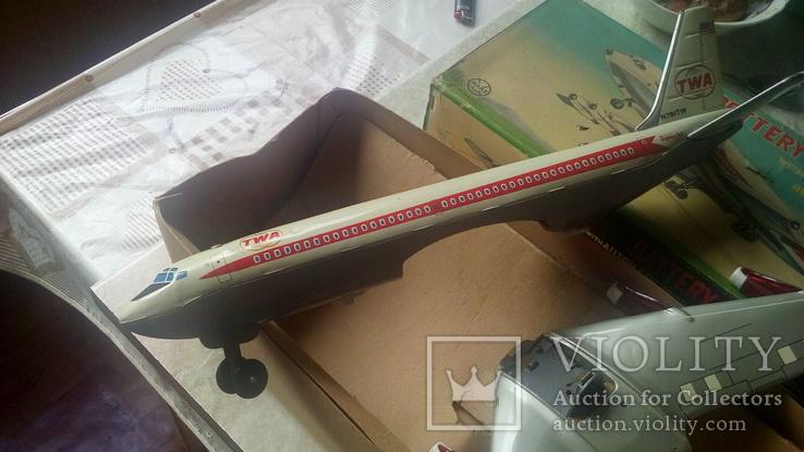Самолет, 1970г, япония, на батарейках, jet plane twa 4916, фото №5