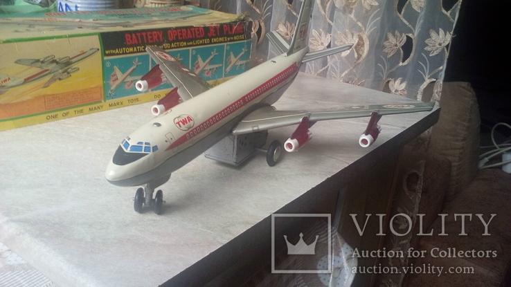 Самолет, 1970г, япония, на батарейках, jet plane twa 4916, фото №6
