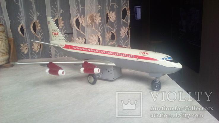 Самолет, 1970г, япония, на батарейках, jet plane twa 4916, фото №9