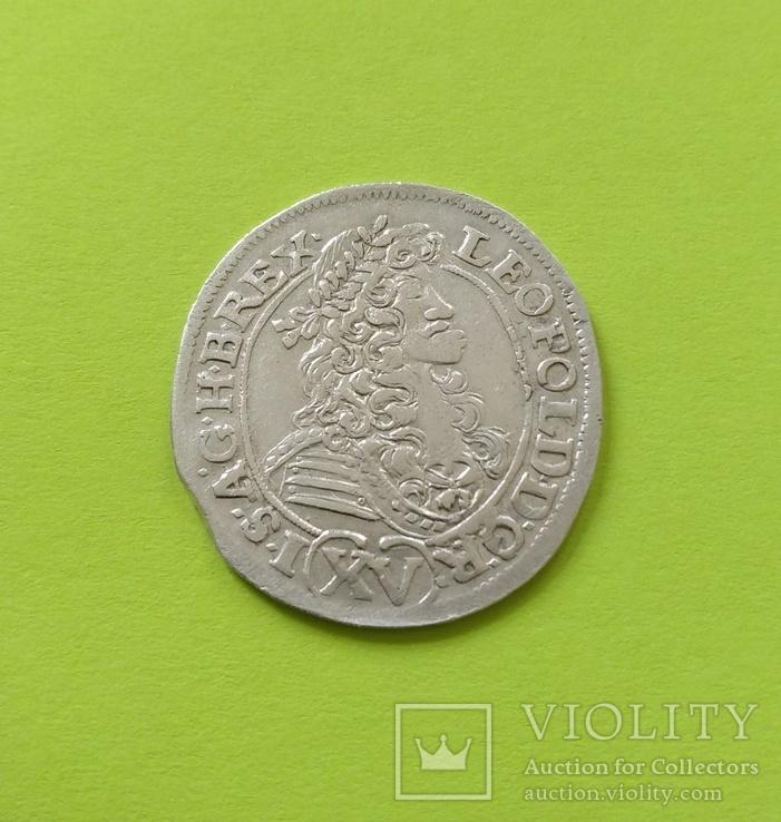 15 крейцерів 1690 року. Леопольда I (Грац, Австрія)