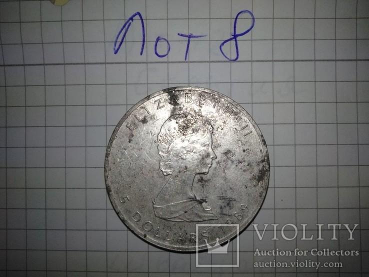 5 Долларов Канада. Серебро 999. лот 8, фото №3