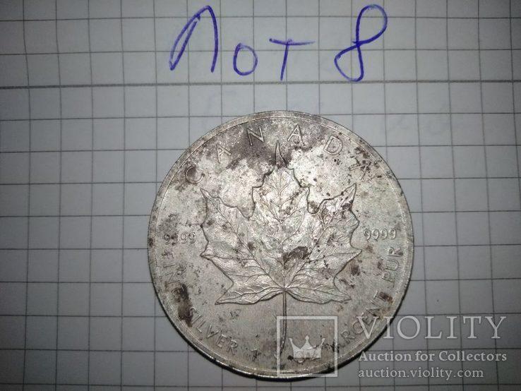 5 Долларов Канада. Серебро 999. лот 8, фото №4