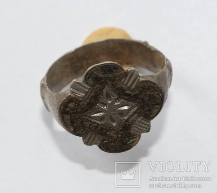 Перстень КР серебро, чернь.