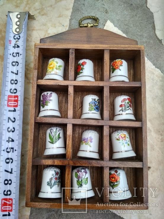 Наперстки Цветы набор на полке настенный декор, фото №8
