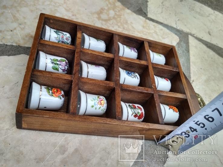 Наперстки Цветы набор на полке настенный декор, фото №10