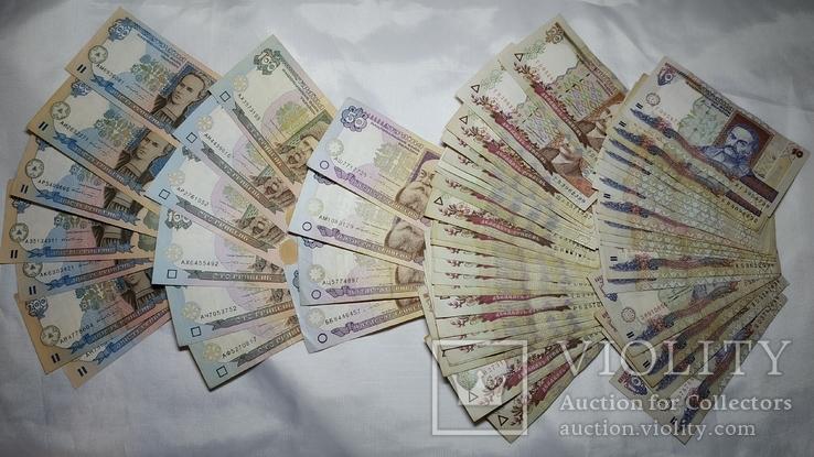 200,100,20,10 гривен. Бaнкноты 2-го поколения НБУ. На сумму 2940 грн