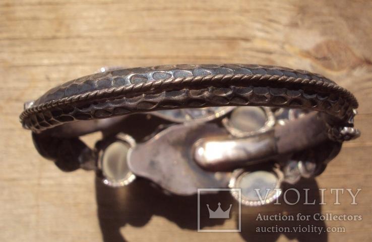 Старый браслет с лунными камнями., фото №5
