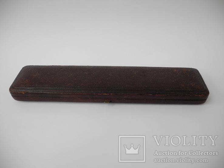 Старинный набор Карандаш и Перьевая ручка с золотым пером ( S. Mordan , Англия ), фото №3