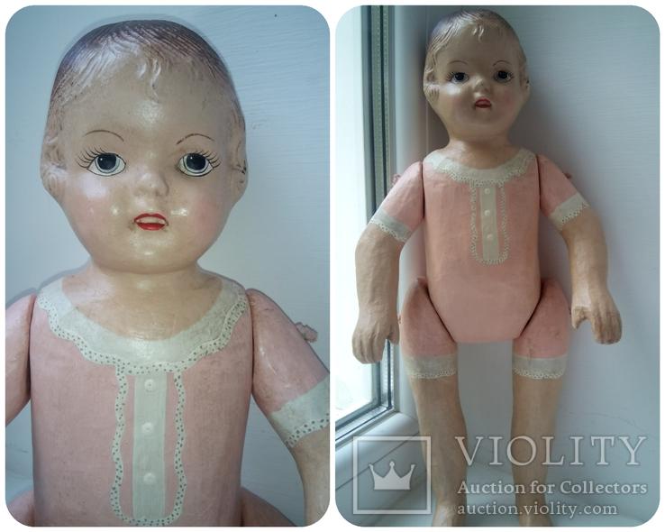 Старинная кукла папье маше неопознанная