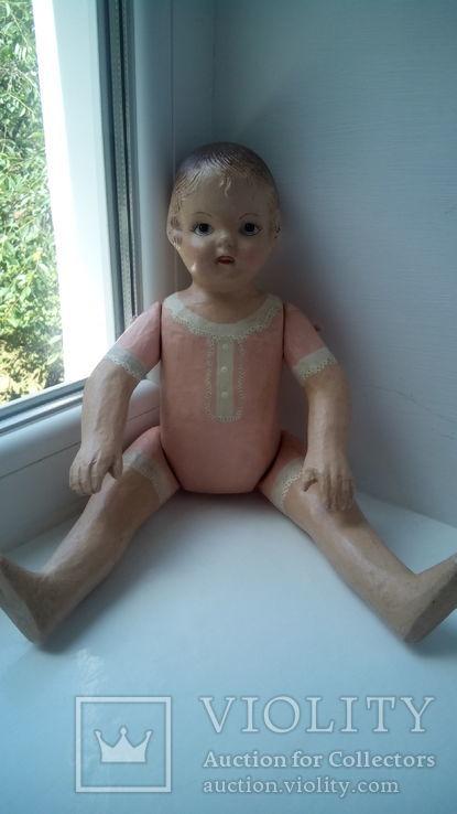 Старинная кукла папье маше неопознанная, фото №4