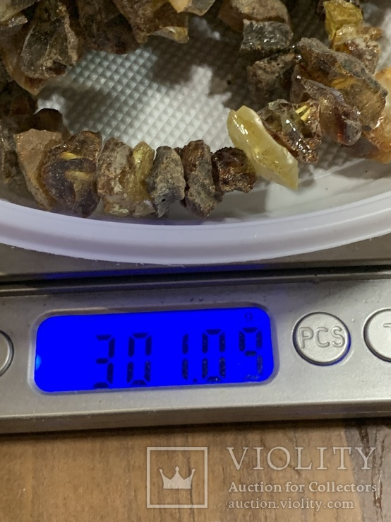 5  бус из янтаря общим весом 301 грамм, фото №6