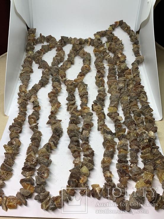 5 бус из янтаря общим весом 292 грамм, фото №2
