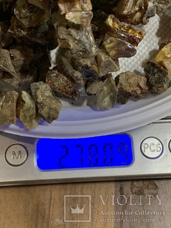 5 бус из янтаря общим весом 278 грамм, фото №6