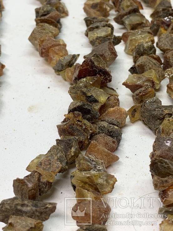 5  бус из янтаря общим весом 285 грамм, фото №4