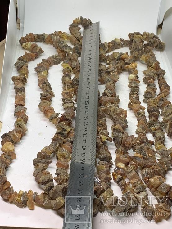5  бус из янтаря общим весом 285 грамм, фото №5
