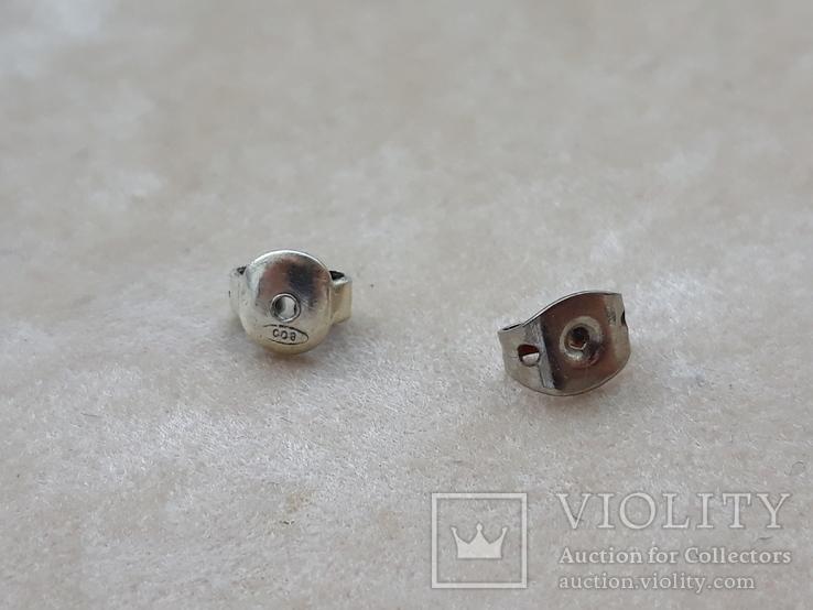 Винтажные серебряные серьги, Италия, фото №5