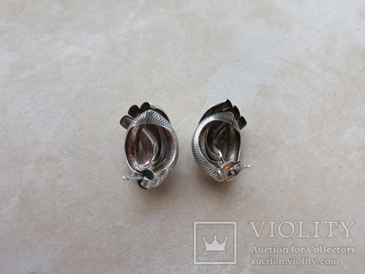 Винтажные серебряные серьги, Италия, фото №7