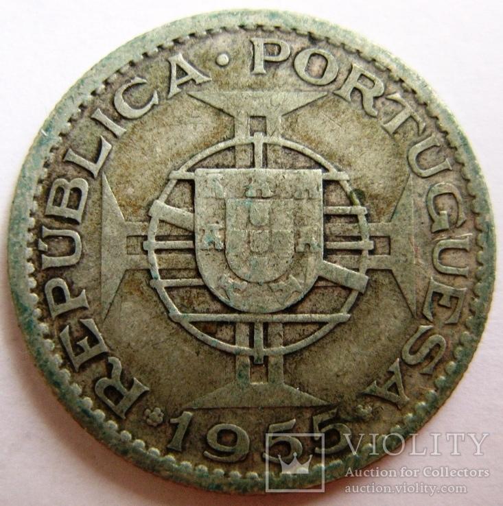 Португальская Ангола, 10 эскудо 1955 г., фото №3
