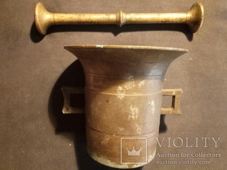 Ступка с пестиком старинная, фото №2