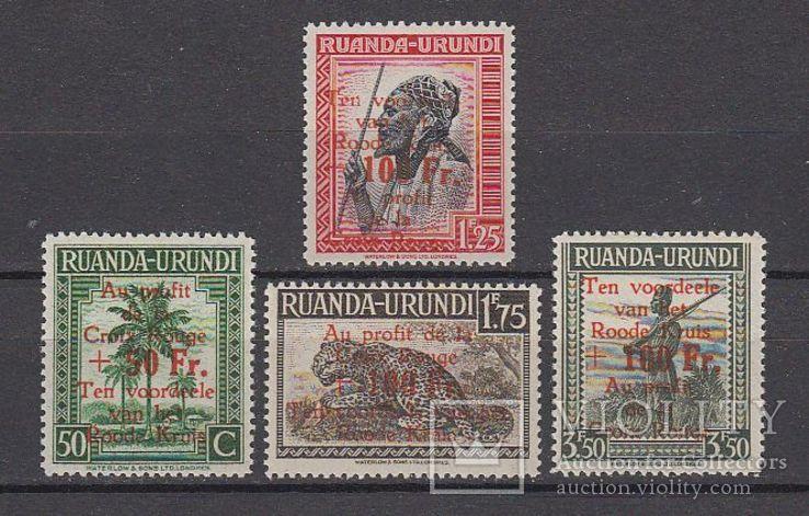 Руанда Урунди 1944/45 Красный Крест MNH **