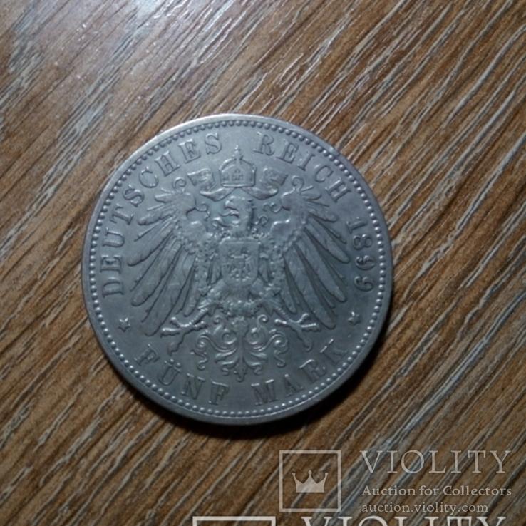 Бавария 5 марок 1899 г., фото №3