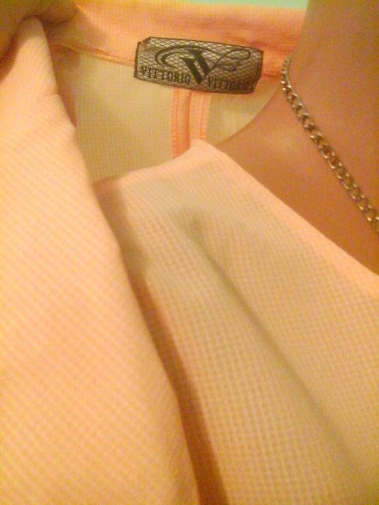 Персиковый костюм тройка Vittorio, p.M-L, фото №3