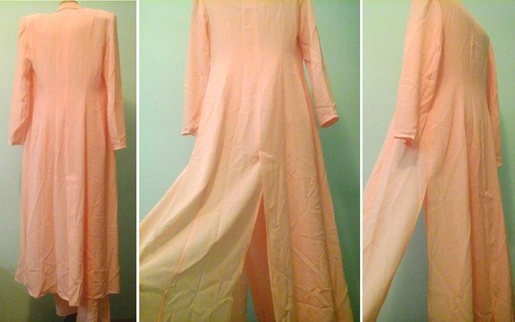 Персиковый костюм тройка Vittorio, p.M-L, фото №8