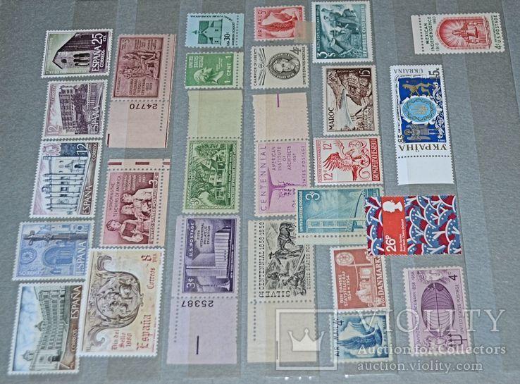 Не гашеные мира марки 590 шт блоки 169 шт сцепки 10 шт и альбом СССР новый, фото №9