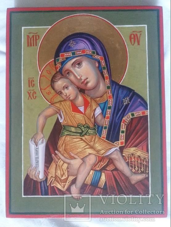Икона Божией Матери Милостивая Богородица Киккская. «Достойно Есть», фото №4