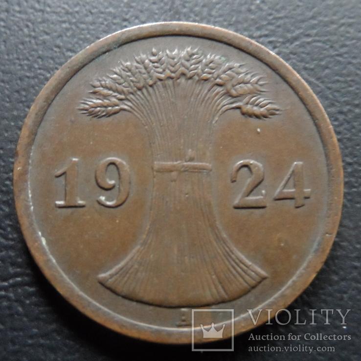 2 пфеннига  1924  Германия    ($5.3.10)~, фото №2