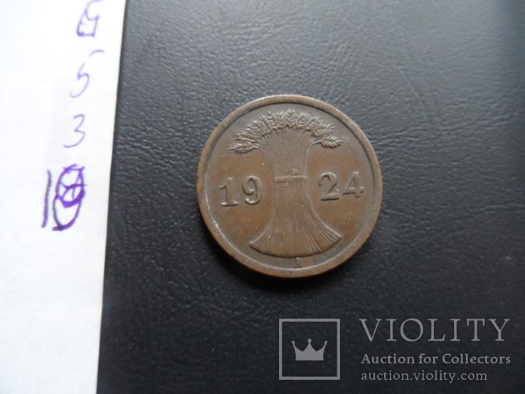 2 пфеннига  1924  Германия    ($5.3.10)~, фото №4