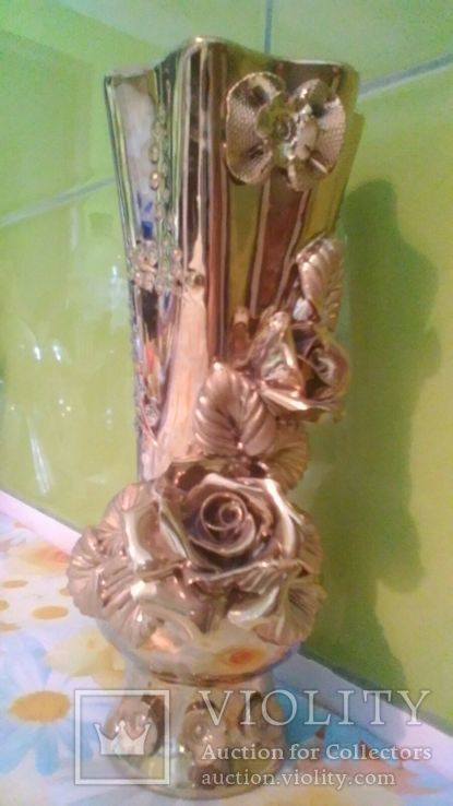 Ваза з розами нова, фото №2