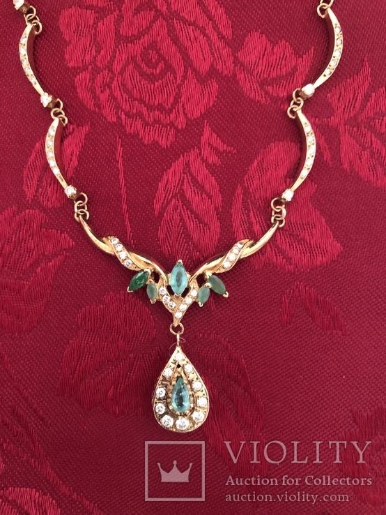 Золотое колье с бриллиантами, фото №2