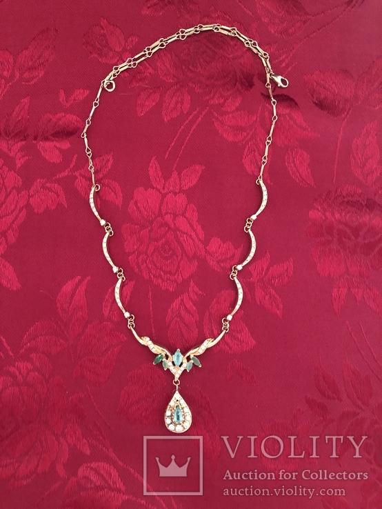 Золотое колье с бриллиантами, фото №7