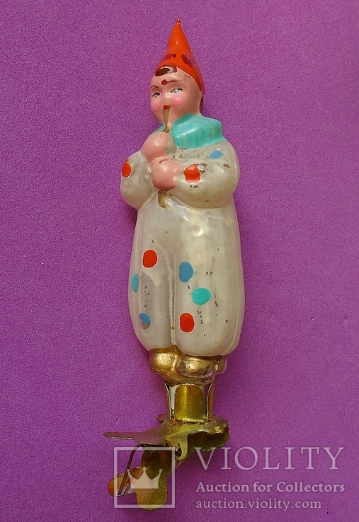 """""""Орлекин с трубочкой"""" Елочная игрушка., фото №7"""