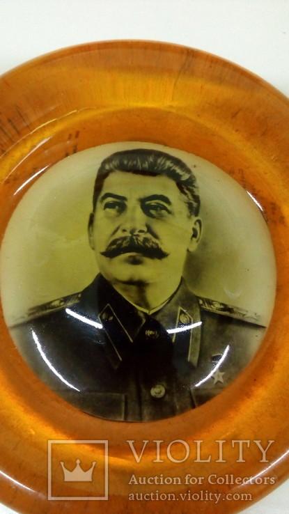 Плакетка Сталин. 50-е гг., фото №3