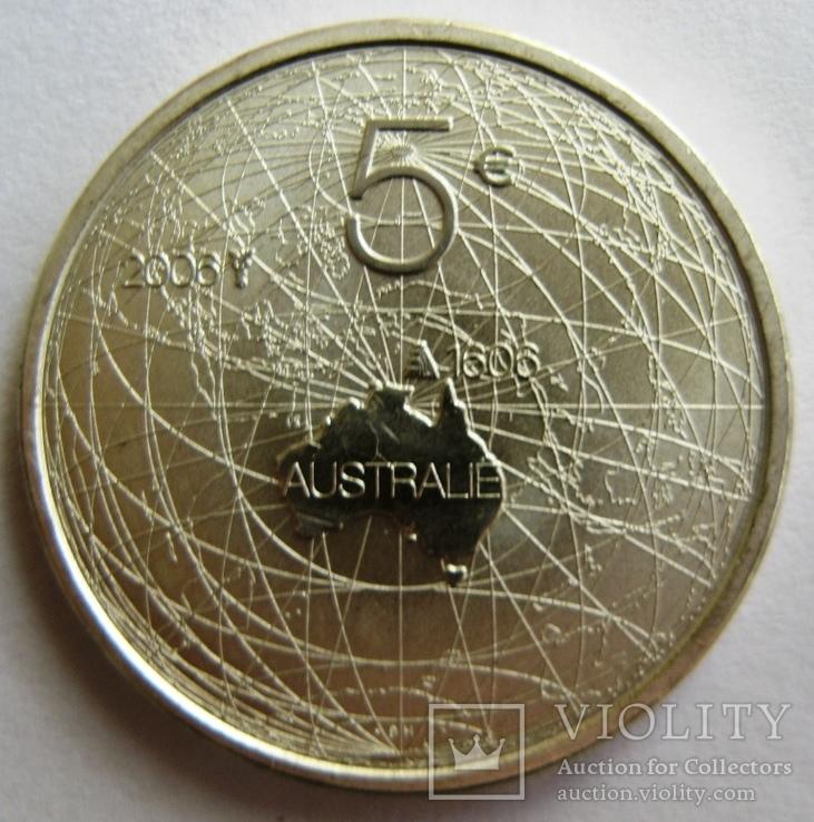 """Нидерланды 5 серебряных евро 2006 """"400 лет открытия Австралии"""" + сертификат, фото №3"""
