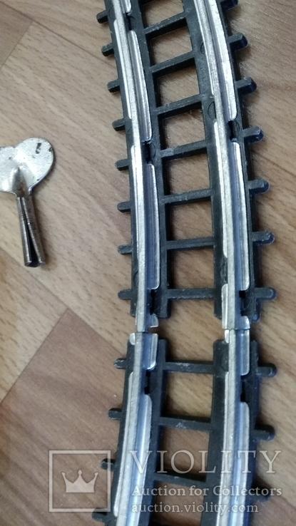 Детская ЖД диам. 80см. заводная с ключом, фото №8