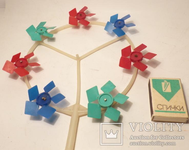 Ссср игрушка - игрушечная ветряная мельница, фото №3