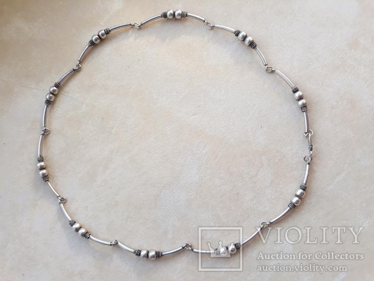 Серебряные бусы, фото №4