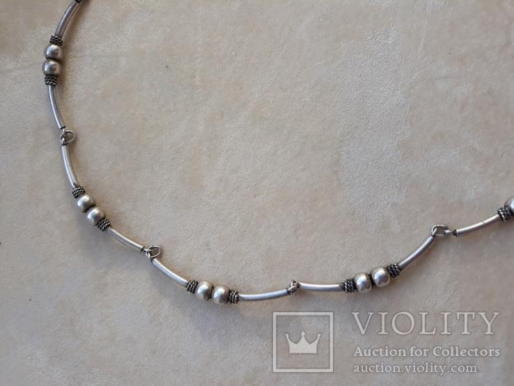 Серебряные бусы, фото №6
