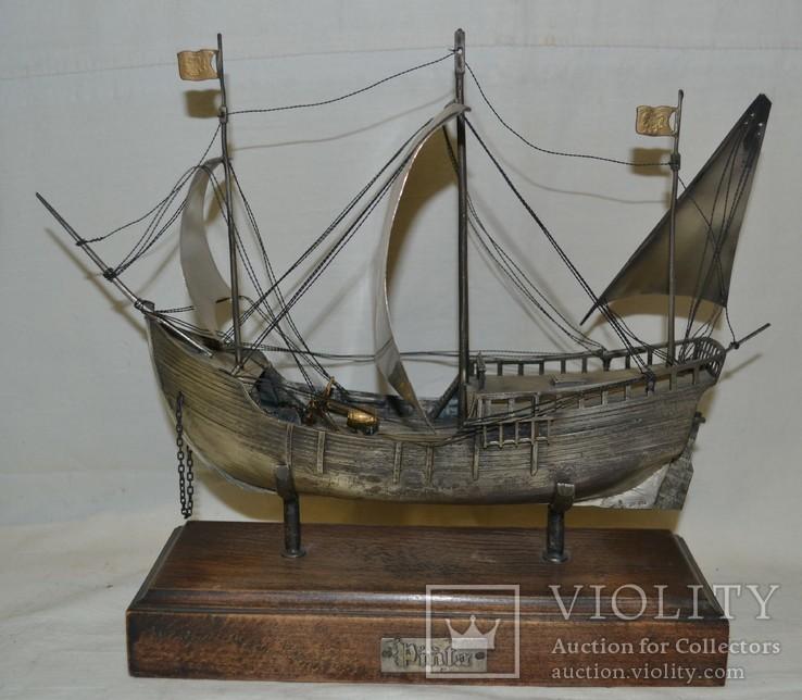 Корабль (Pinta) 19-й век. 700гр., фото №2