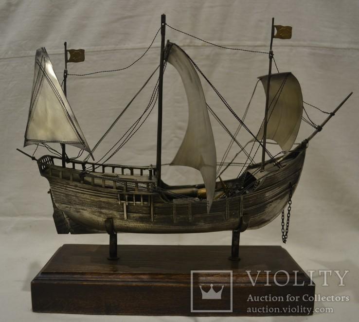 Корабль (Pinta) 19-й век. 700гр., фото №3
