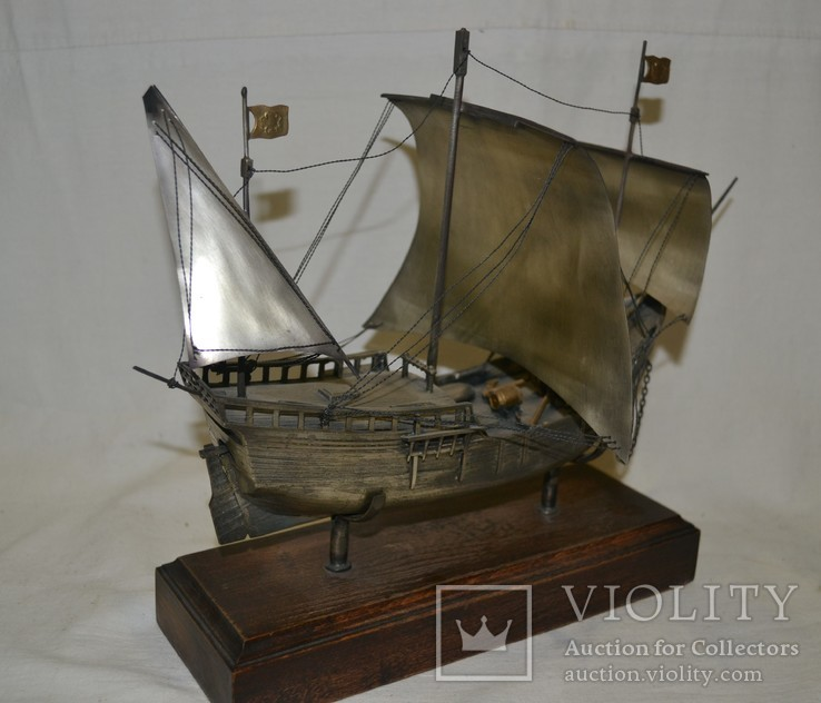 Корабль (Pinta) 19-й век. 700гр., фото №6