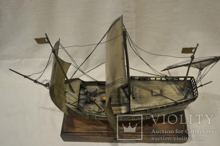 Корабль (Pinta) 19-й век. 700гр., фото №9
