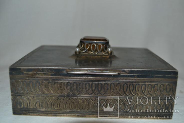 Сигаретница, шкатулка 19-век, фото №4