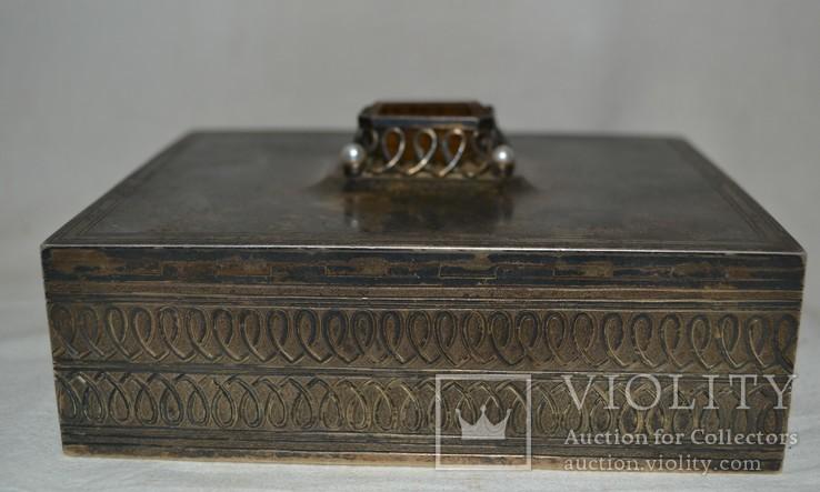 Сигаретница, шкатулка 19-век, фото №6