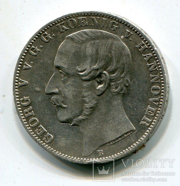 "Талер 1865 Ганновер ""Победителям при Ватерлоо"", фото №3"
